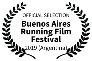 OFFICIAL SELECTION - Buenos Aires Running Film Festival Logo - 2019 Argentina
