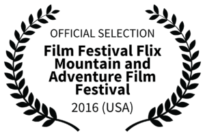 OFFICIAL SELECTION - Film Festival Flix Mountain and Adventure Film Festival Logo - 2016 USA