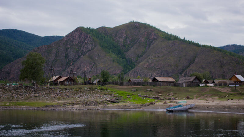 An Old Believer village on the banks of the Yenisei River.