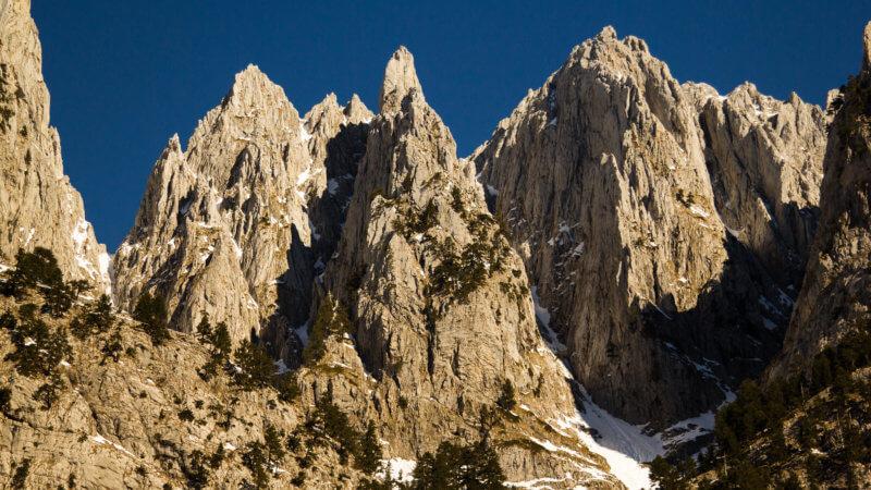 Steep pinnacles of rock in Montenegro.
