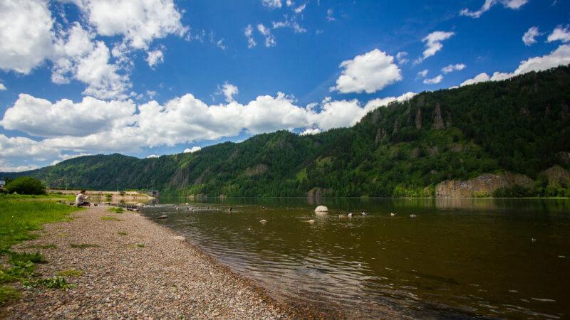 A section of the Yenisei River near Krasnoyarsk.