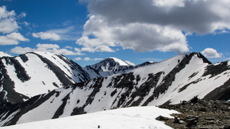 Altai Mountains covered in snow.
