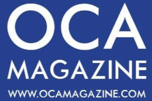 Open Central Asia Magazine's logo in blue and white.