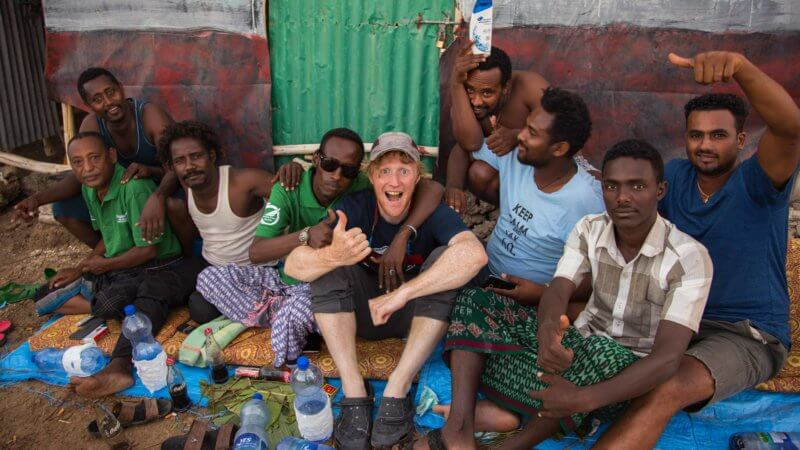 Matt with a group of Ethiopian guides.