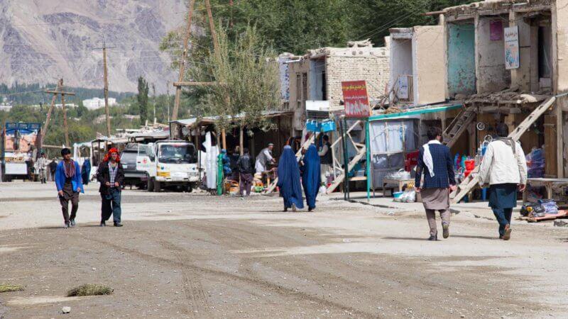 The main street in Ishkishim, Afghanistan, near the Tajik border.