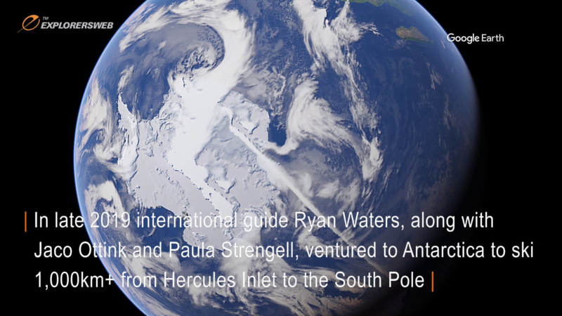 Google Earth satellite photo showing the Antarctic Continent from Outer Space.